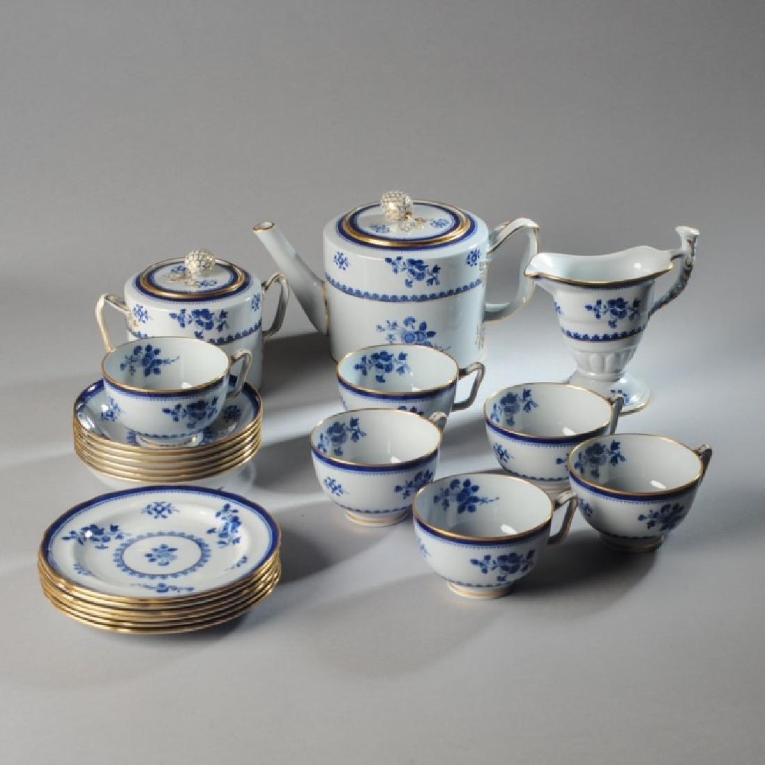 Copeland Spode Lowestoft Style Tea Set