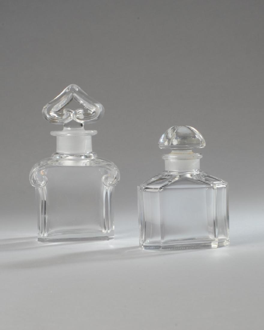Two Baccarat Guerlain Perfume Bottles