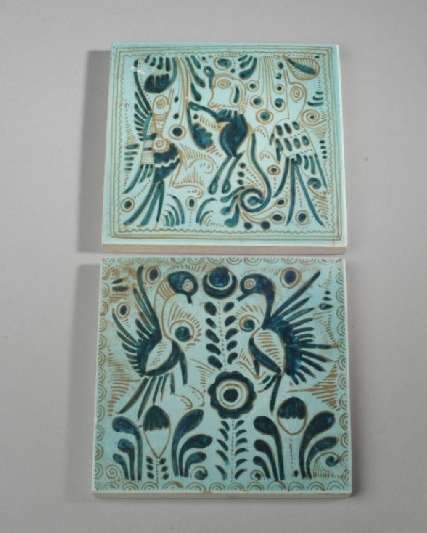 Two Early Glazed Tiles