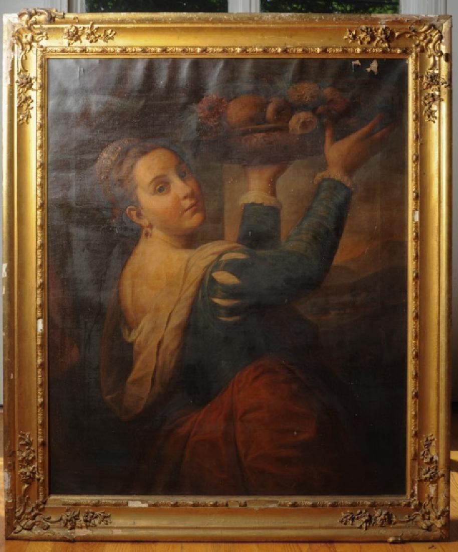 Constantino Brumidi (1805-1880) O/C After Titian