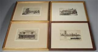 Four Cecil Forbes Etchings