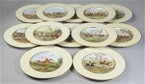 12 Copeland Spode Hunt Scene Plates