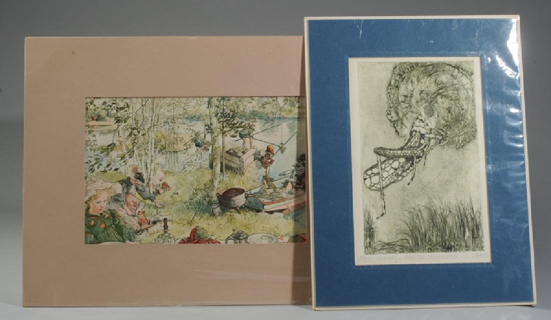 SIGNED /& NUMBERED Engraving Fine Art Print Original Limited Edition Copper Plate Etching By Carol Travers Lummus