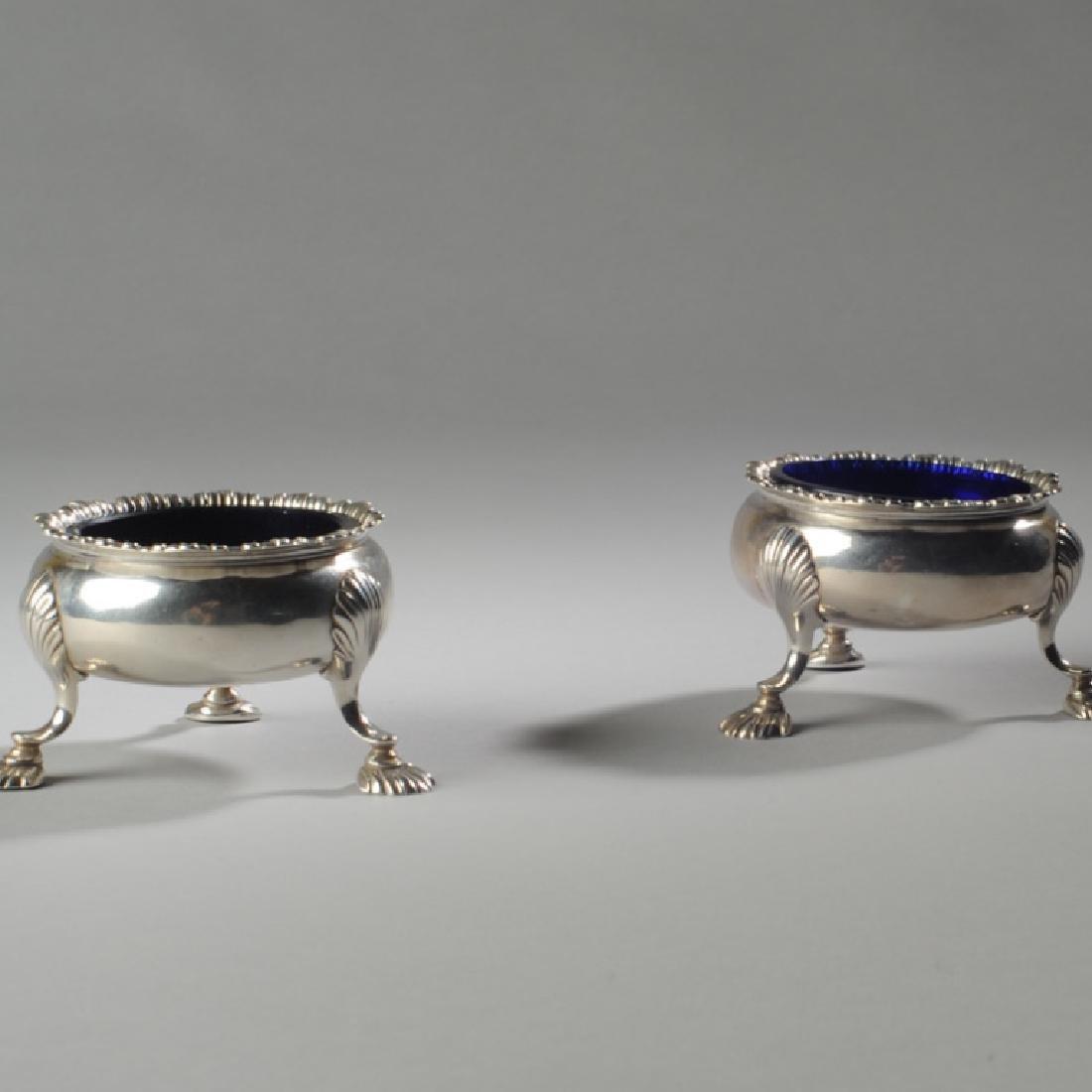 Pair English Georgian Style Sterling Master Salts - 2