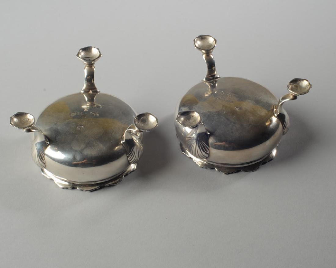 Pair English Georgian Style Sterling Master Salts - 3