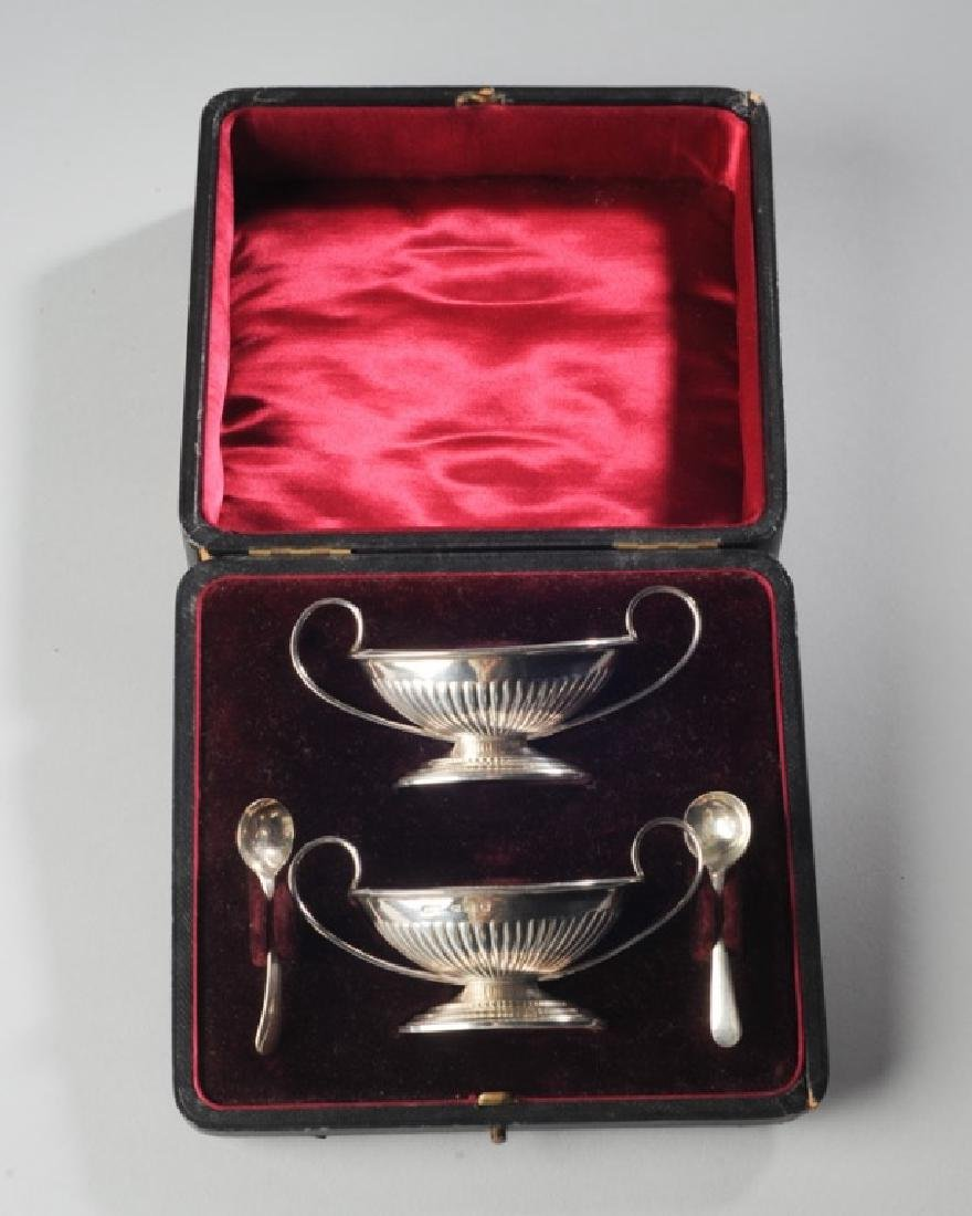 Pair English Sterling Master Salts