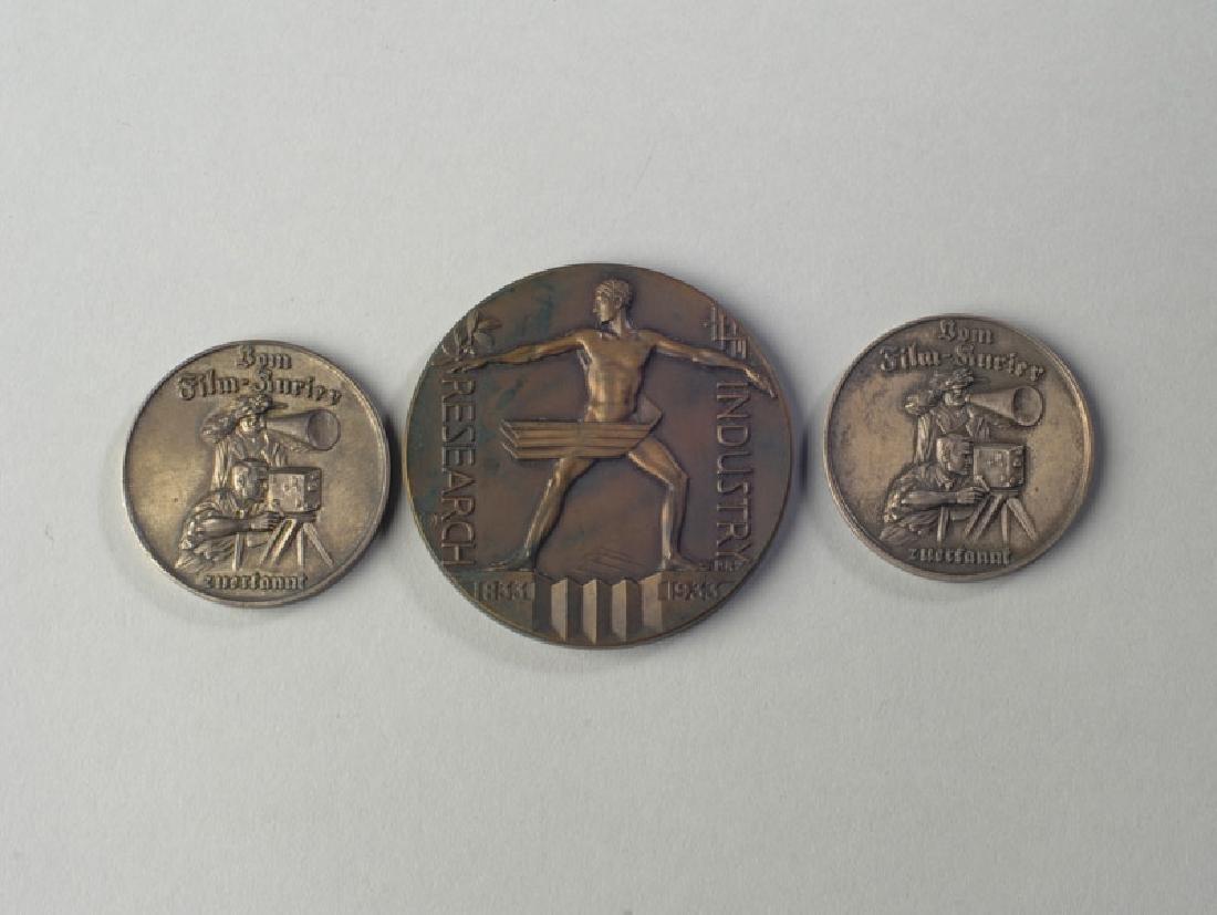 1933 World's Fair Medal & German Film Tokens