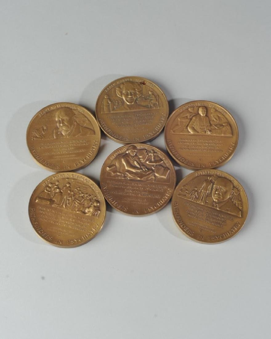 "6 Vintage ""Pathfinders in Psychiatry"" Medallions - 3"