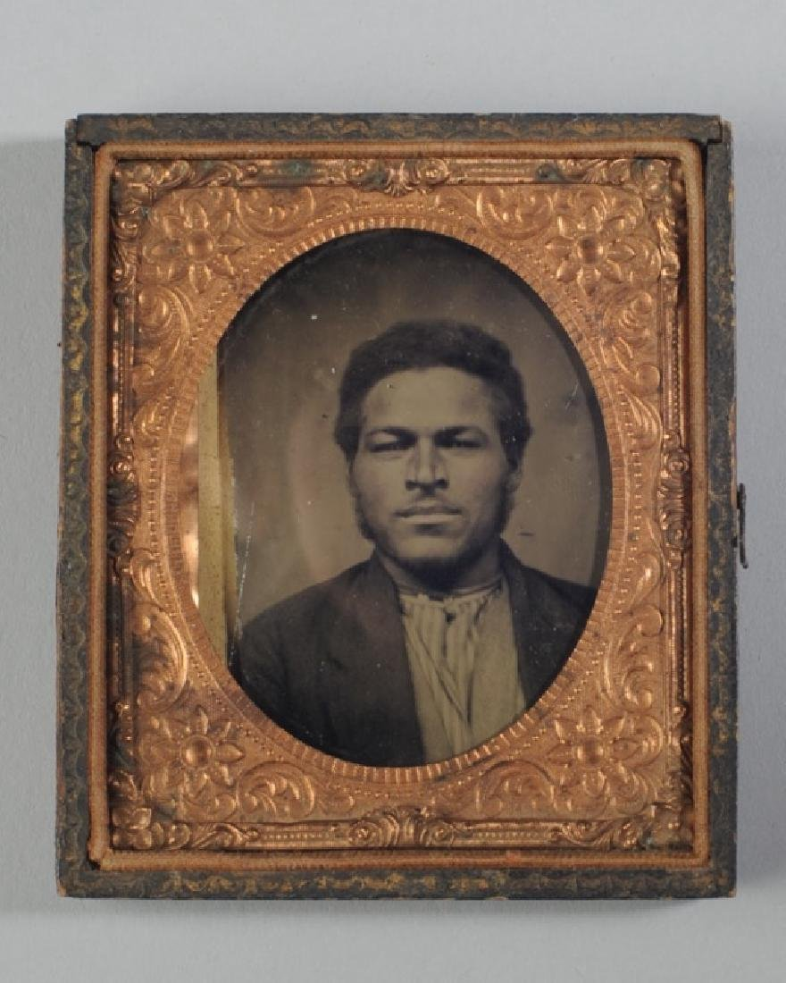 19th C. Tintype of African American