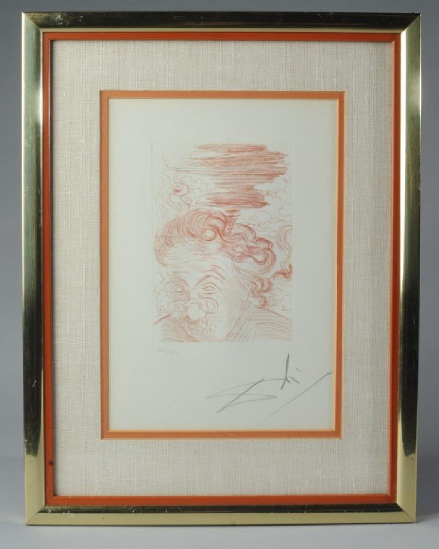 Original signed Salvador Dali Etching of Einstein