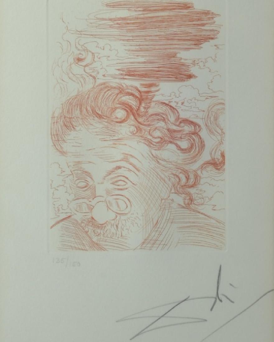 Original signed Salvador Dali Etching of Einstein - 2