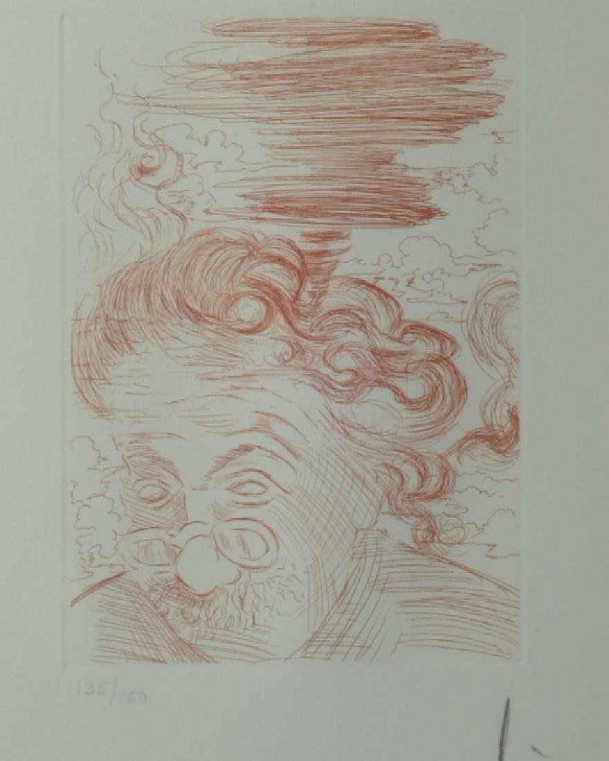 Original signed Salvador Dali Etching of Einstein - 3