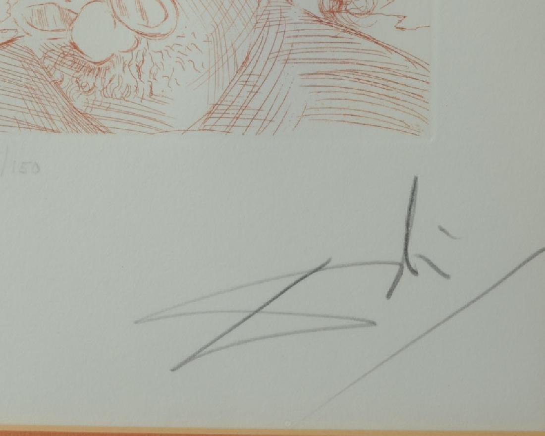 Original signed Salvador Dali Etching of Einstein - 4