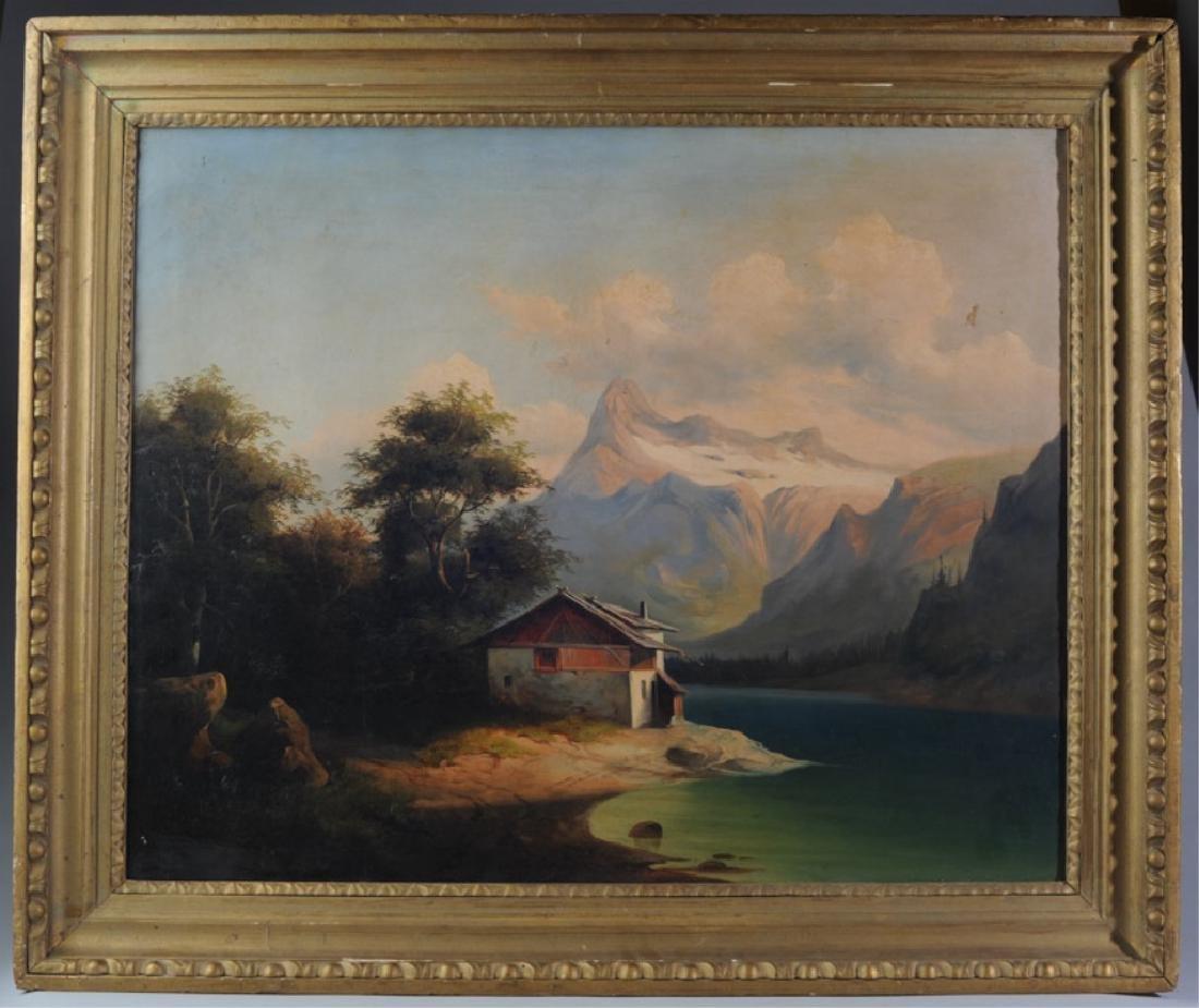 Oil on Canvas Attr. Oswald Achenbach (1827-1905)