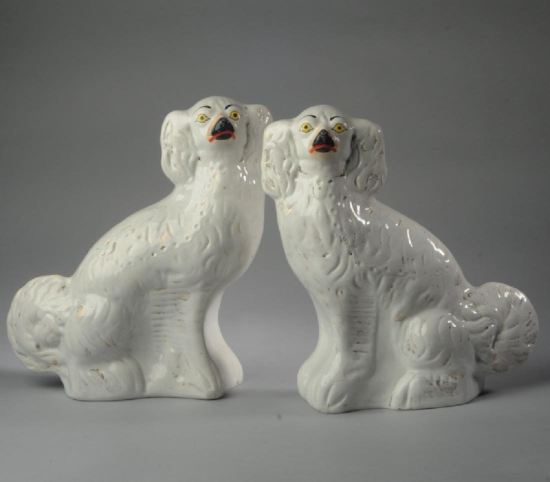 Pair of 19th C. Staffordshire Dogs