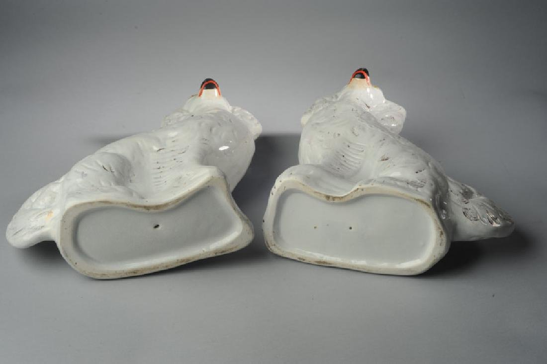 Pair of 19th C. Staffordshire Dogs - 6