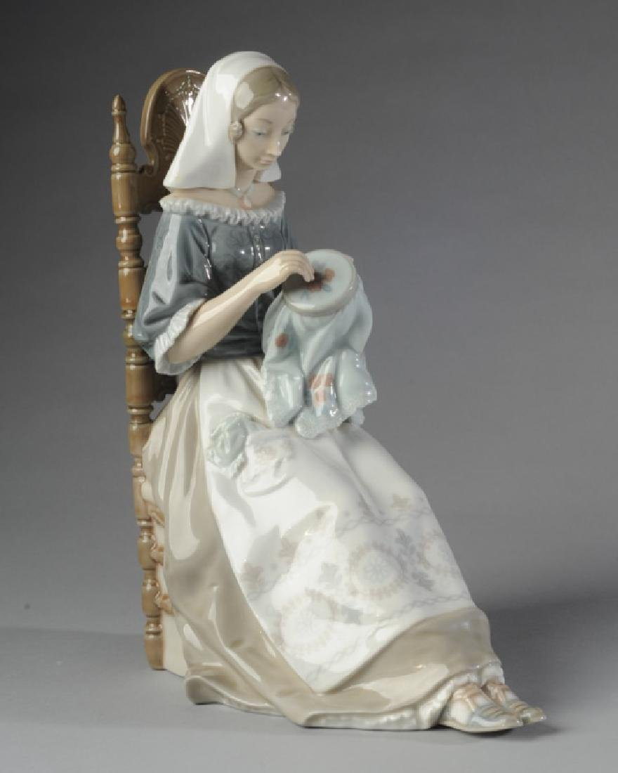 Lladro Embroidery Lady Figure