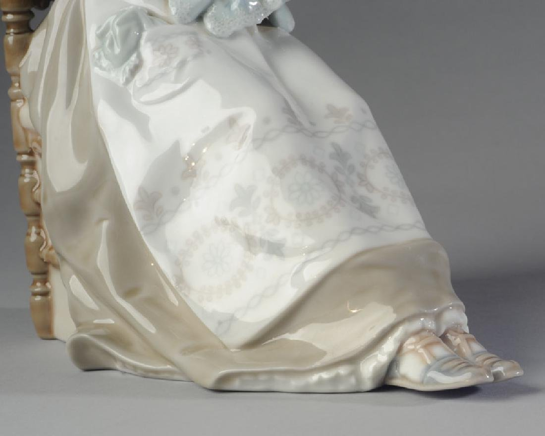 Lladro Embroidery Lady Figure - 2