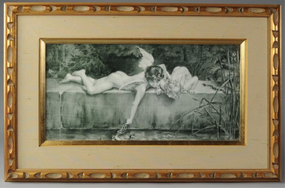 Vintage Print on Porcelain after Emile Munier