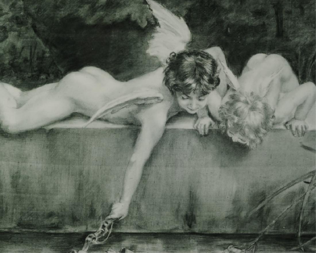 Vintage Print on Porcelain after Emile Munier - 2