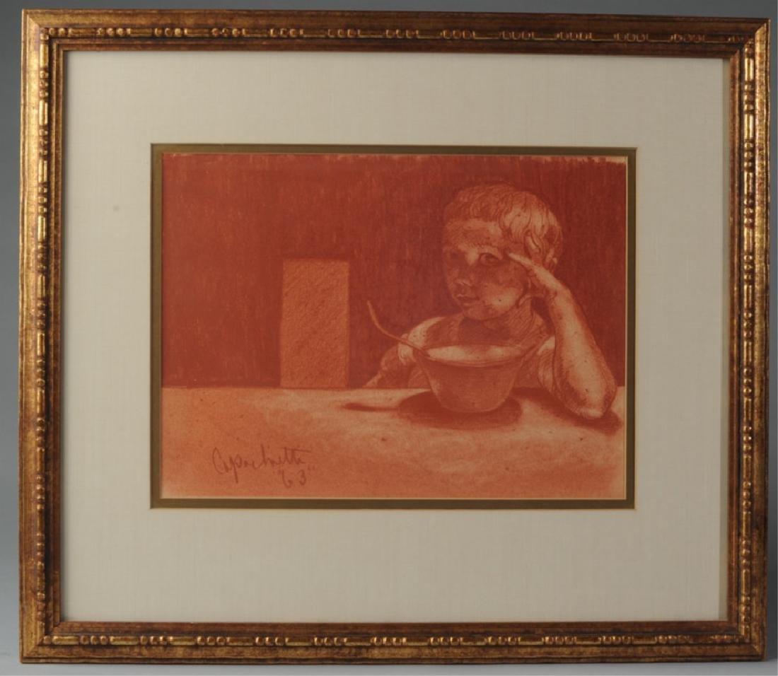 Joseph Capachietti 1963 Lithograph of Child