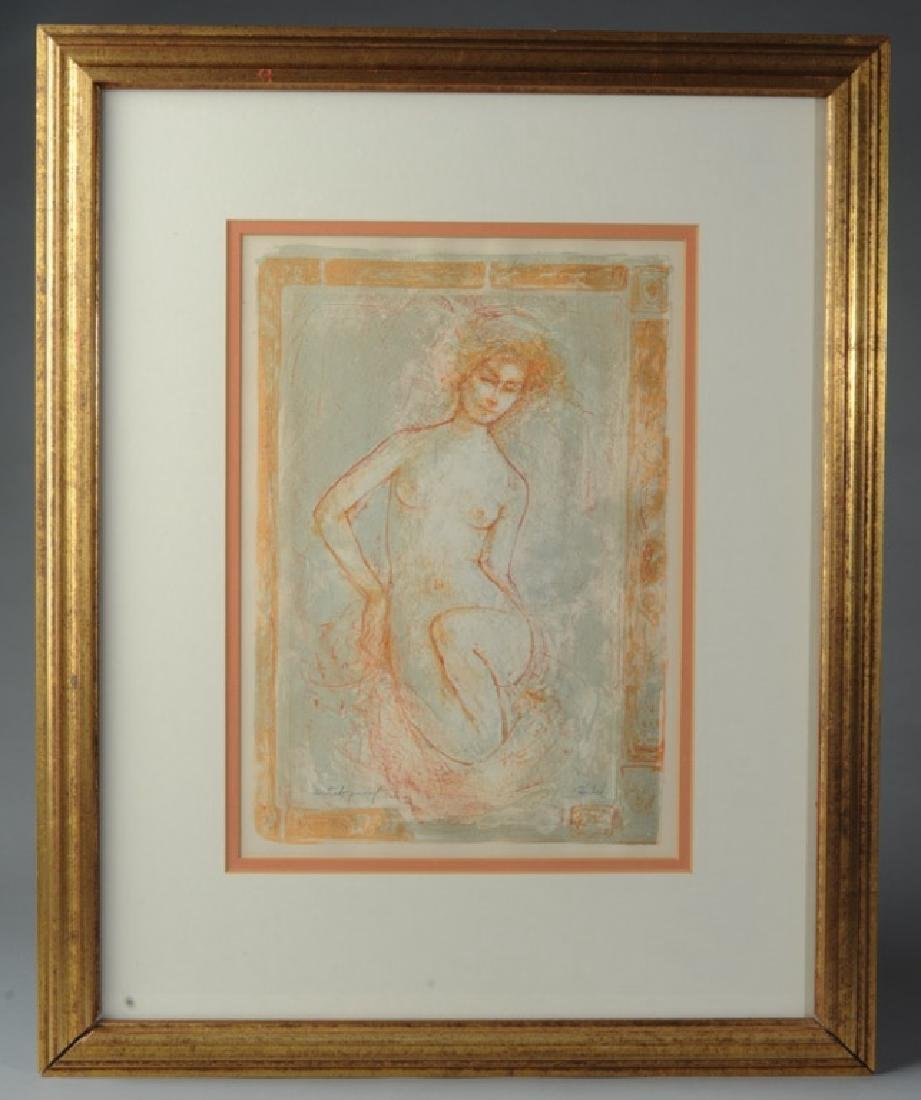 Edna Hibel Lithograph Female Nude Artists Proof