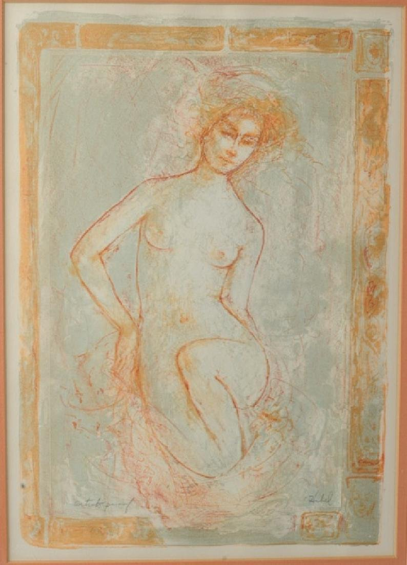 Edna Hibel Lithograph Female Nude Artists Proof - 2