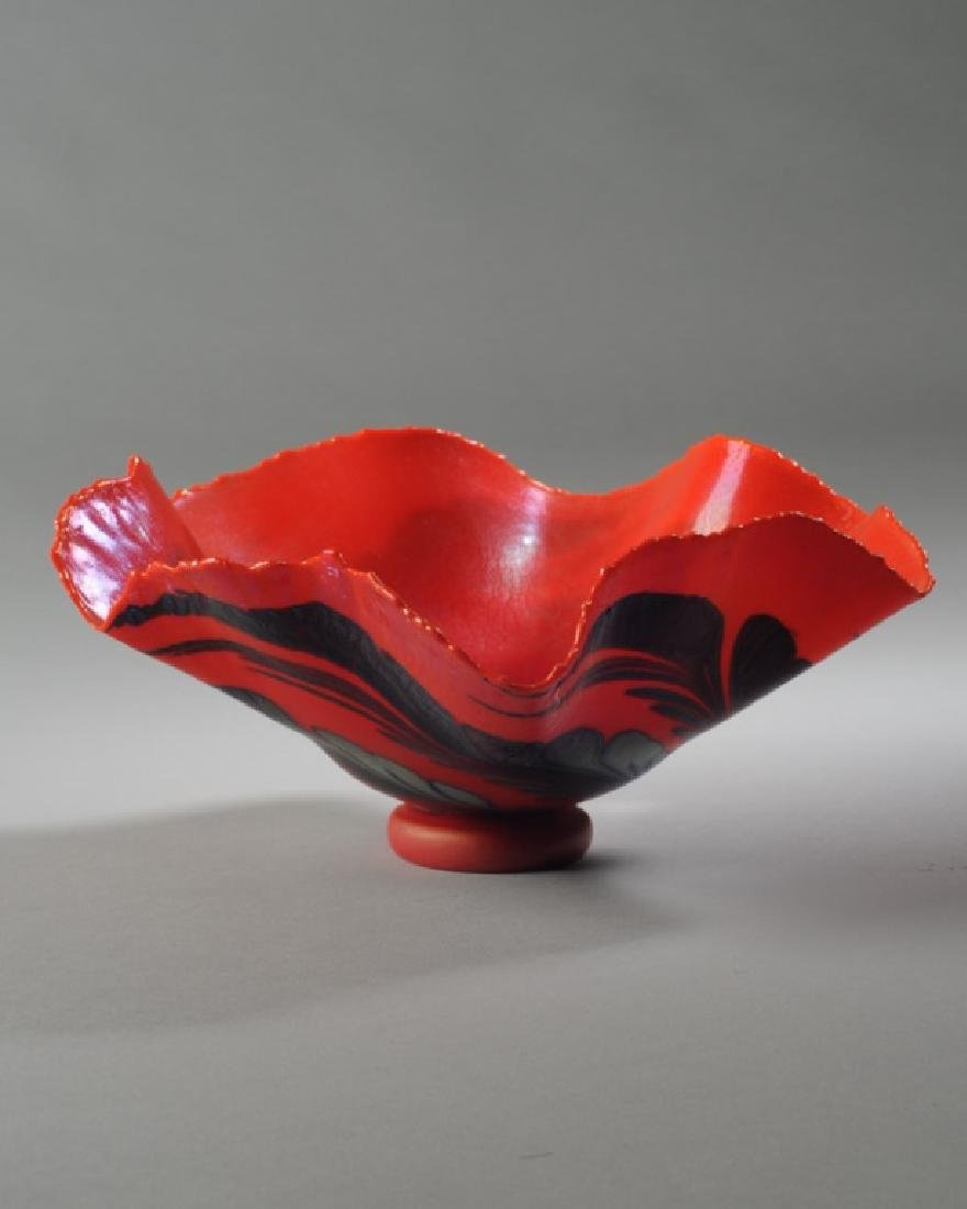 Charles Lotton Blown Glass Bowl