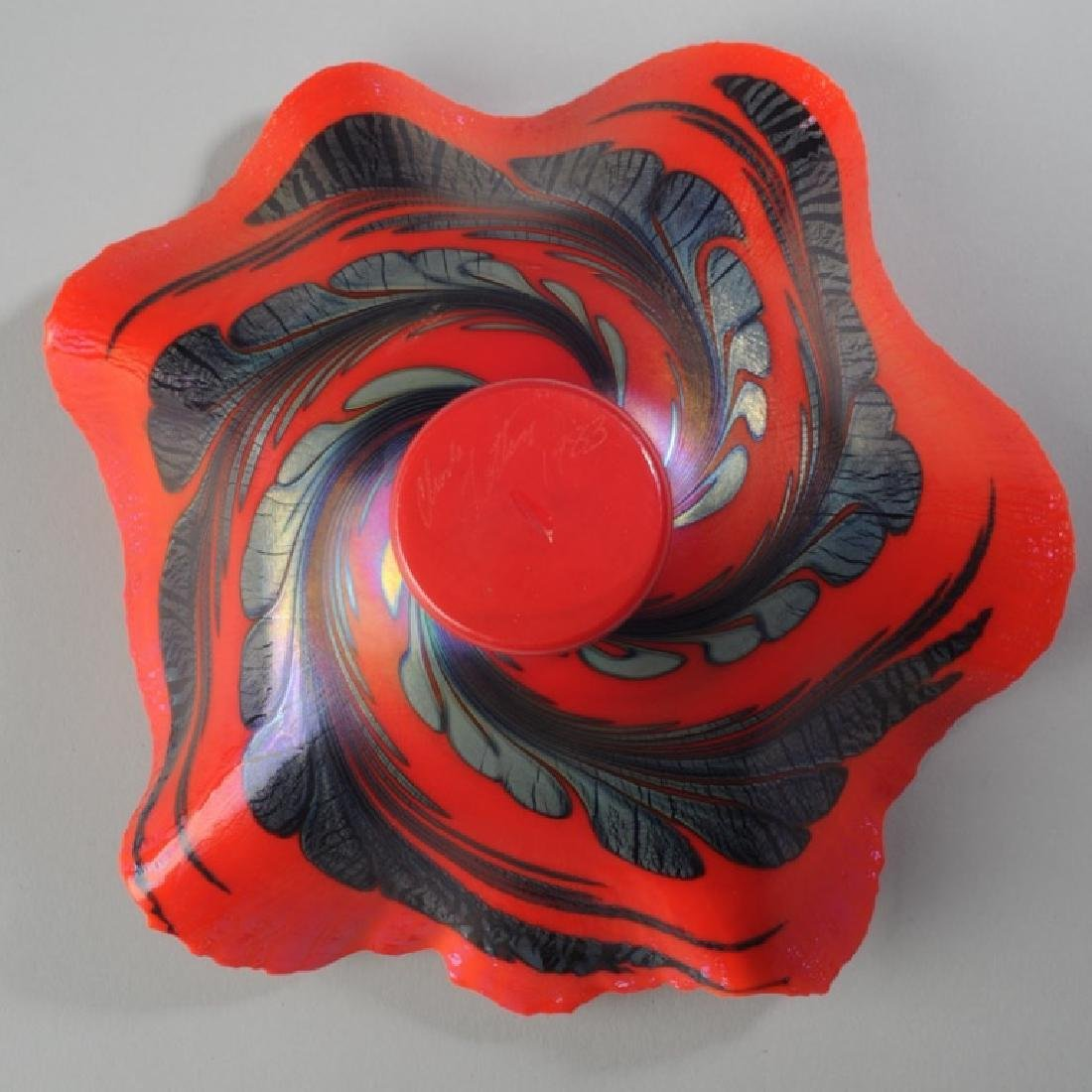 Charles Lotton Blown Glass Bowl - 3