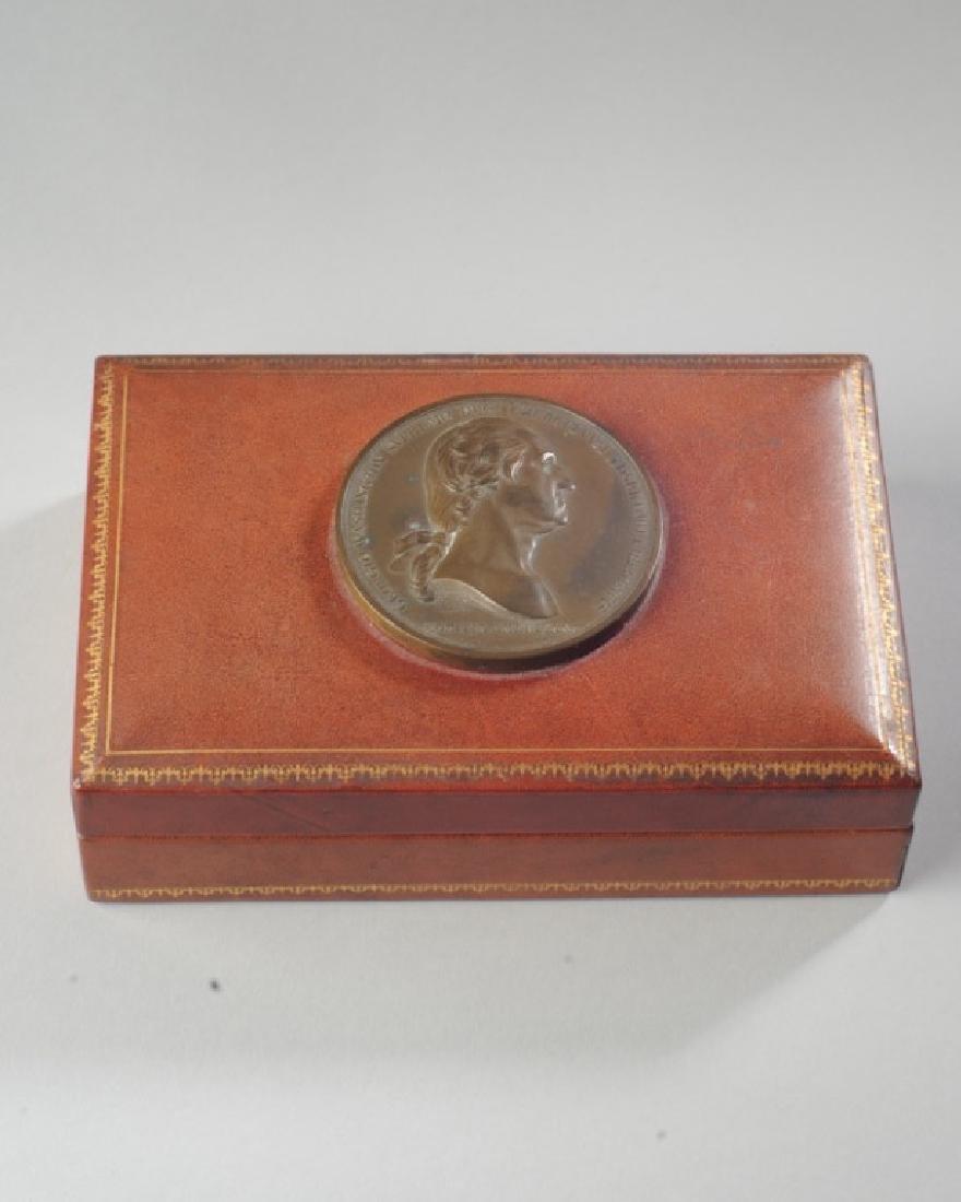 George Washington Medal Leather Box