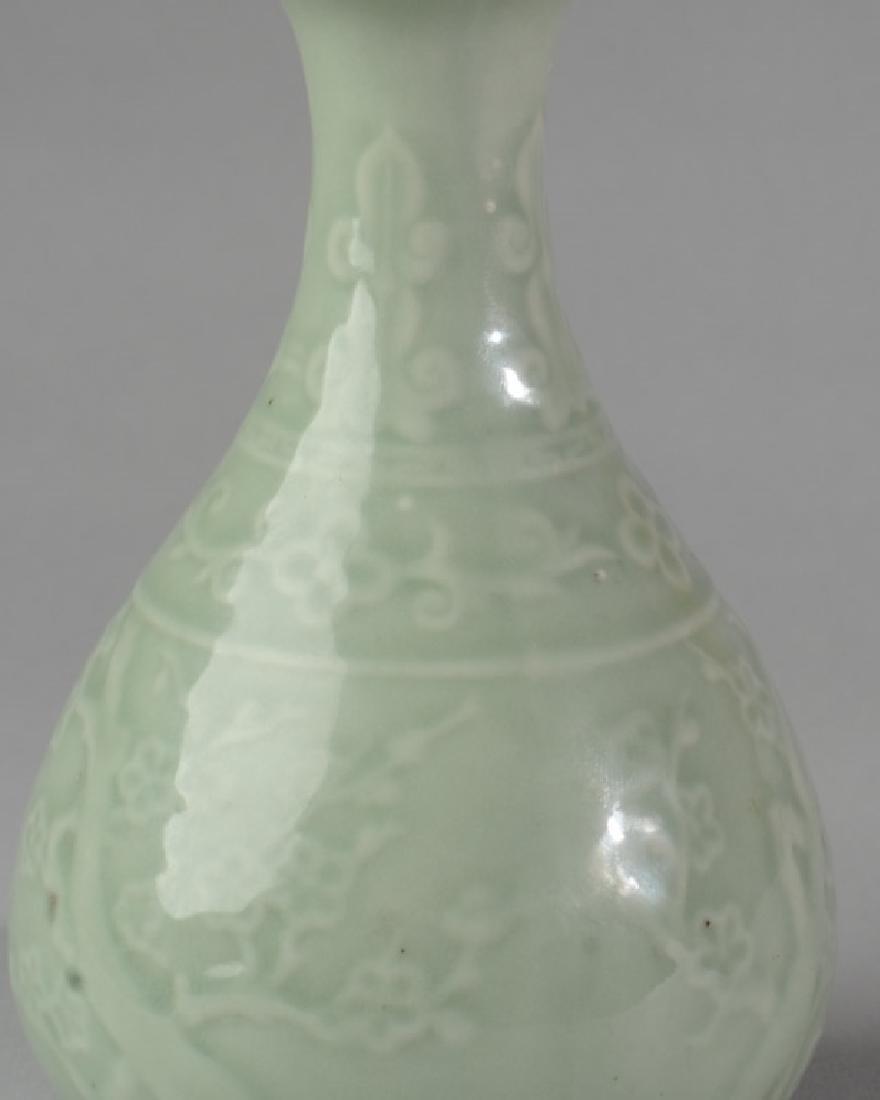 Chinese Porcelain Celadon Vase - 2