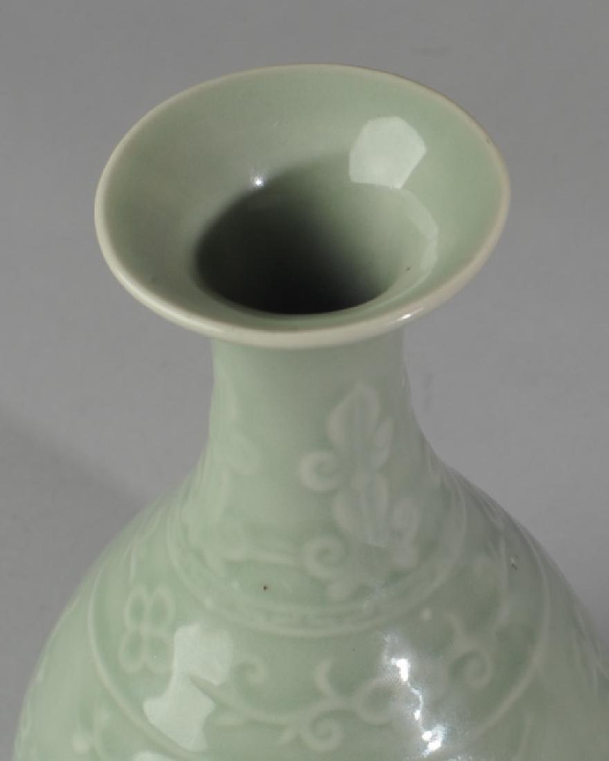 Chinese Porcelain Celadon Vase - 3