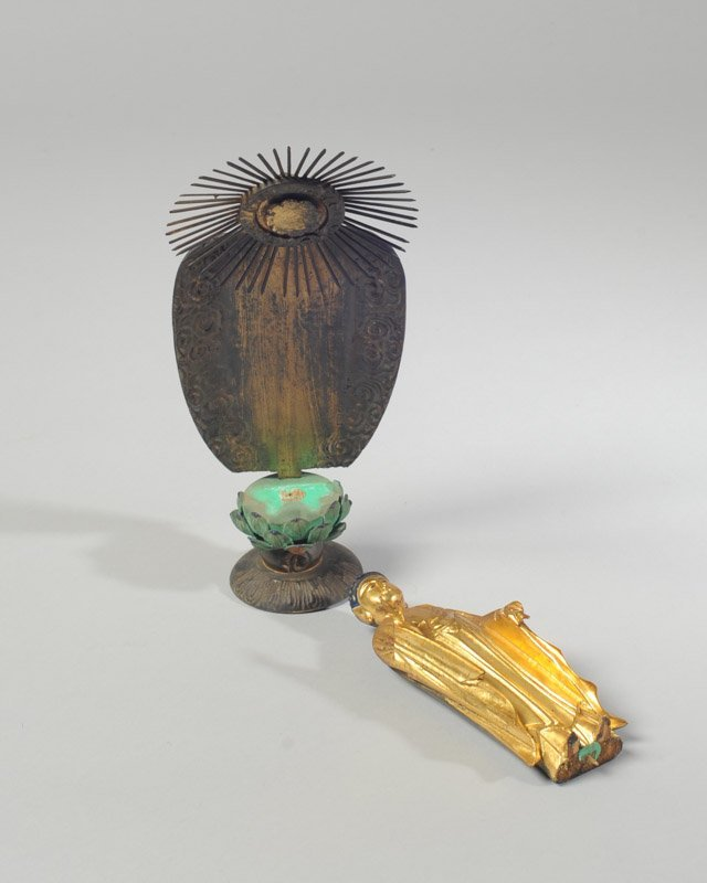 Japanese Gilt & Lacquer Statue of Kamon - 2