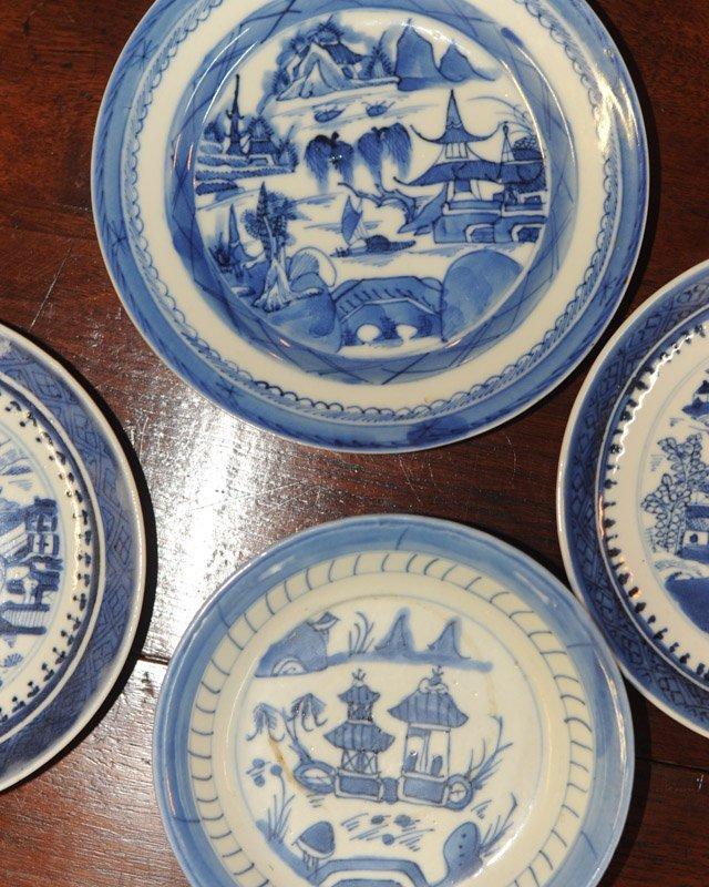Lot Canton & Nanking China Blue & White Porcelain - 3