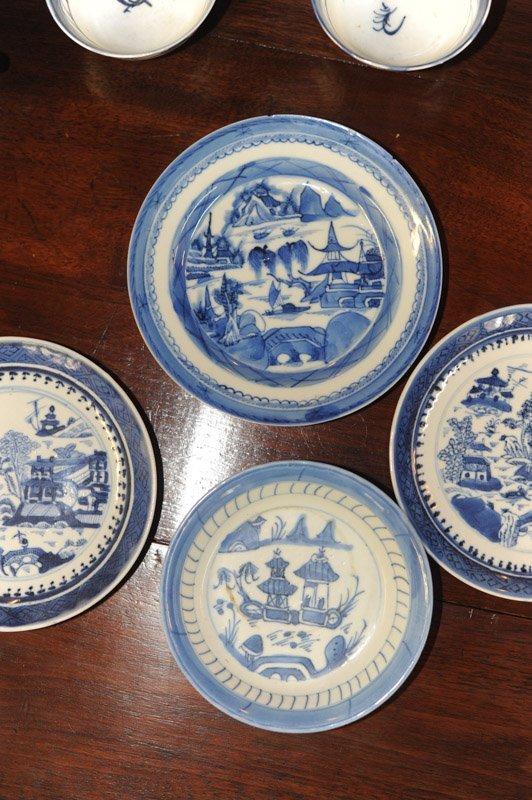 Lot Canton & Nanking China Blue & White Porcelain - 4
