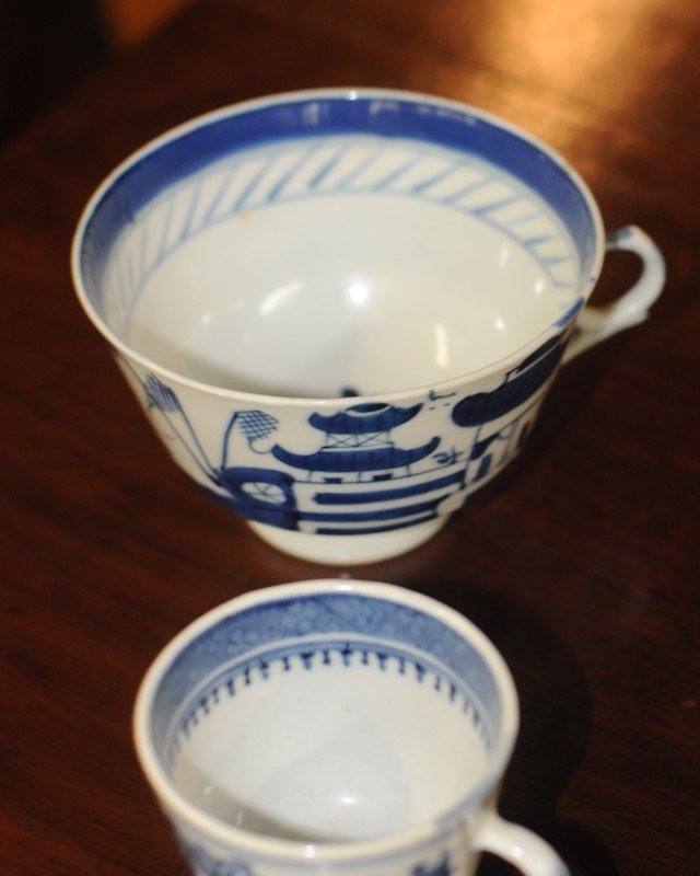 Lot Canton & Nanking China Blue & White Porcelain - 6