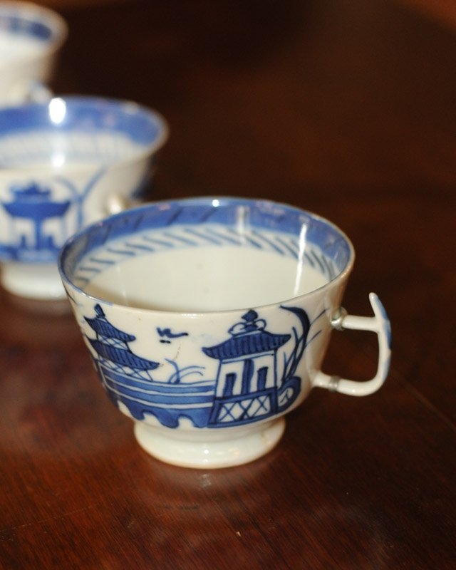 Lot Canton & Nanking China Blue & White Porcelain - 8