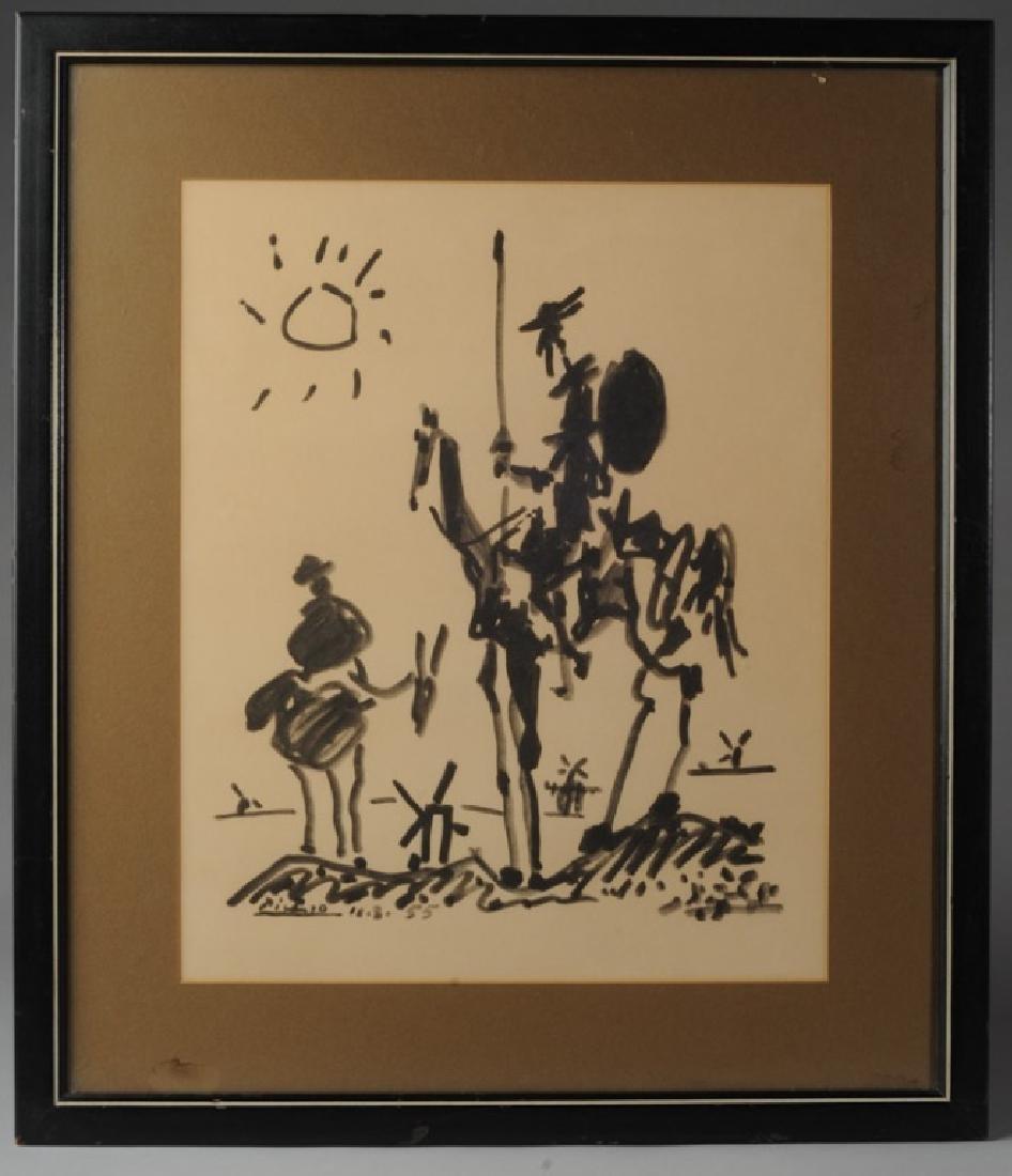 Pablo Picasso Vintage Print Don Quixote