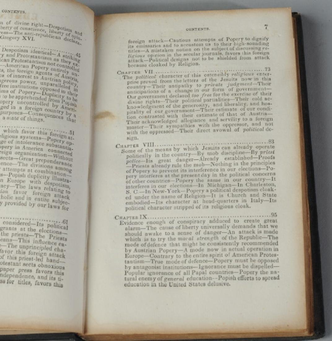 """""""Foreign Conspiracy..."""" Samuel Morse 1835 1st Ed. - 5"""