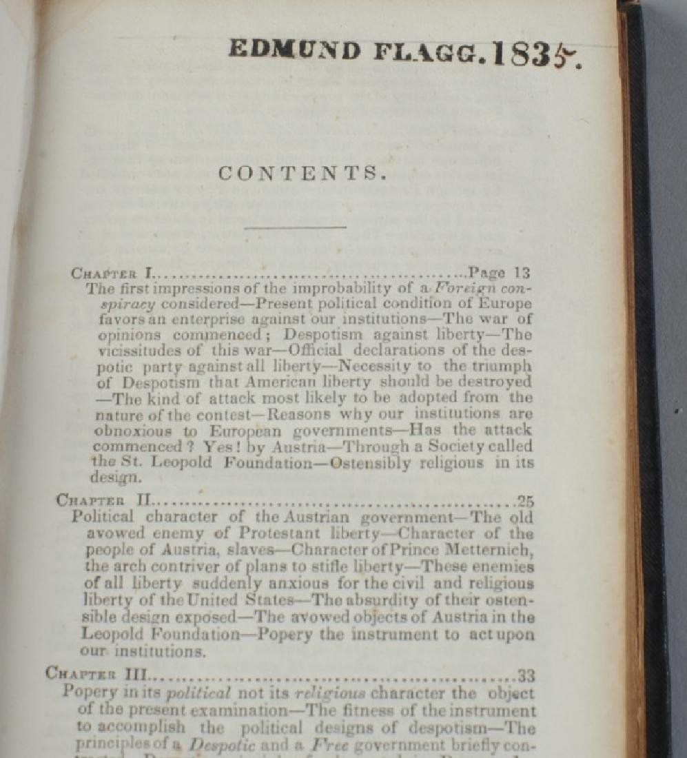 """""""Foreign Conspiracy..."""" Samuel Morse 1835 1st Ed. - 6"""