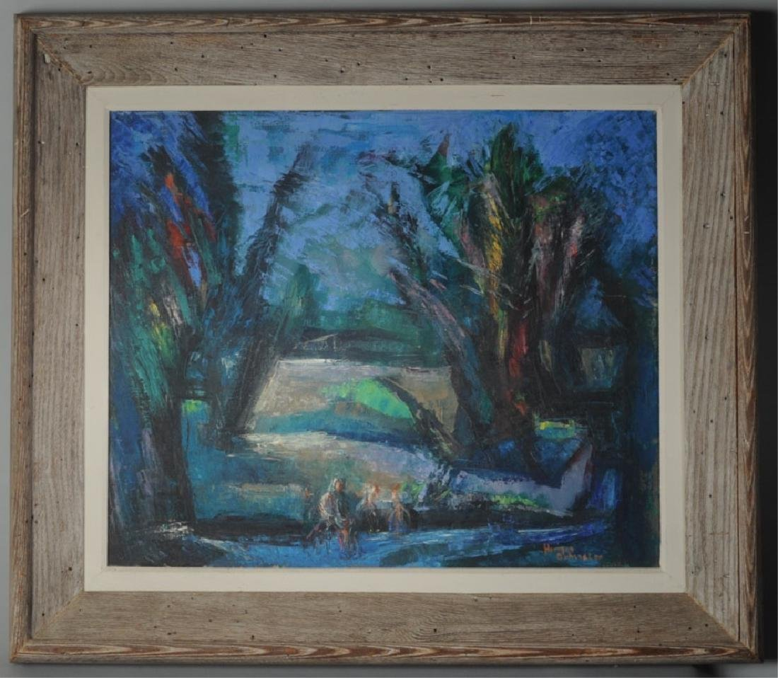 Oil on Canvas Abstract Landscape - 2