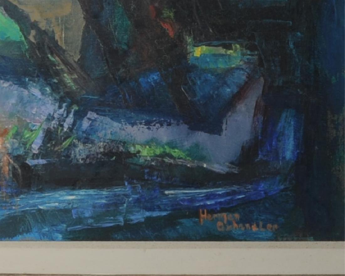 Oil on Canvas Abstract Landscape - 3