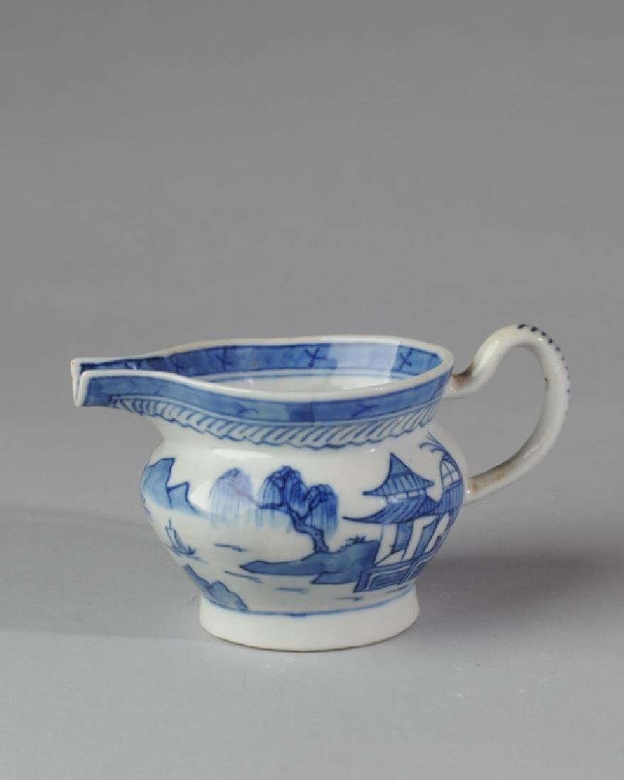 19th C. Canton China Cream Pitcher