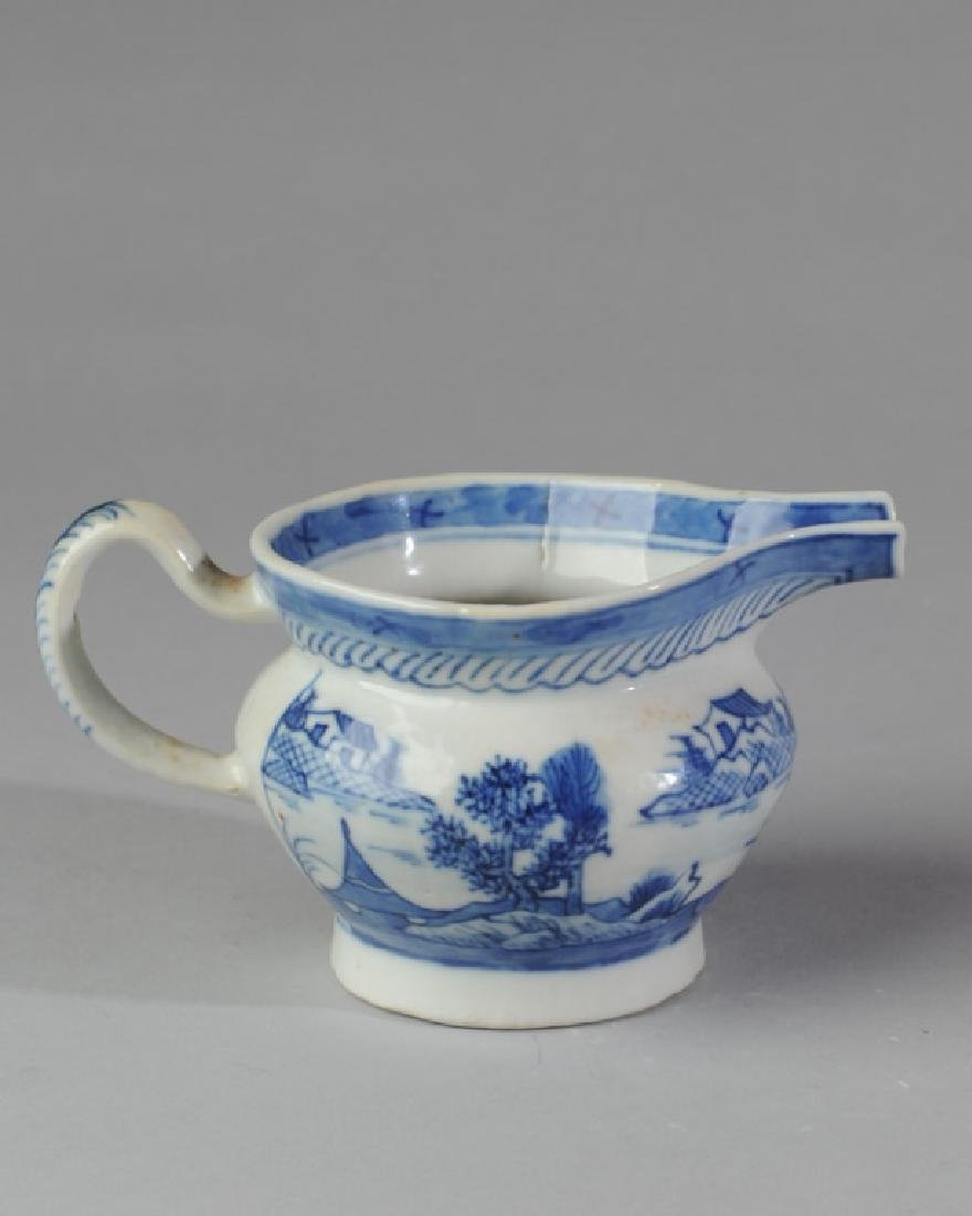 19th C. Canton China Cream Pitcher - 2