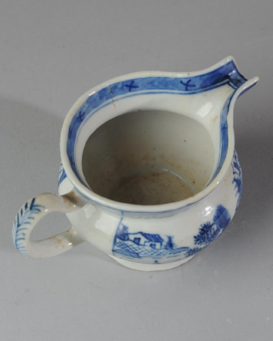 19th C. Canton China Cream Pitcher - 3