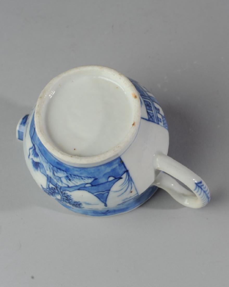 19th C. Canton China Cream Pitcher - 4