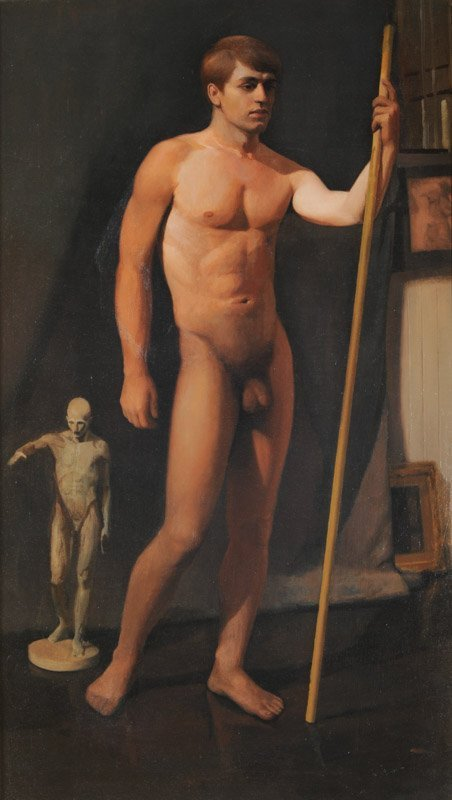 Oil on Canvas Male Nude