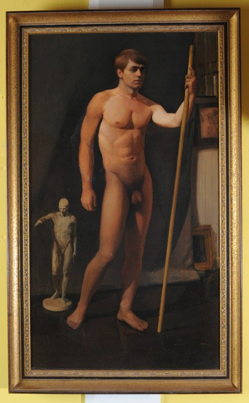 Oil on Canvas Male Nude - 2
