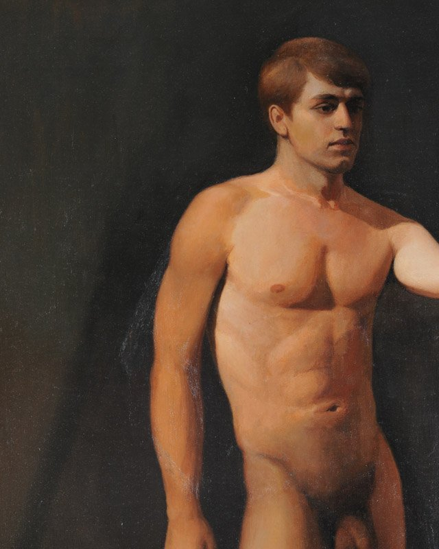 Oil on Canvas Male Nude - 3