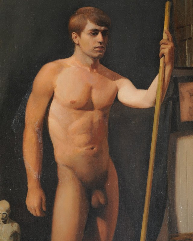 Oil on Canvas Male Nude - 4